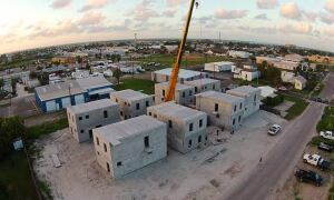 Enclave of eight homes under construction, Port Aransas, Texas