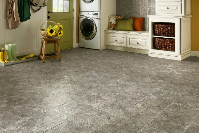 Armstrong's engineered stone tiles. Photo courtesy of Armstrong.