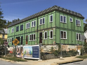 This high-performance townhouse project, although precertified as a Passive House building, didn't comply with Maryland's prescriptive energy code.