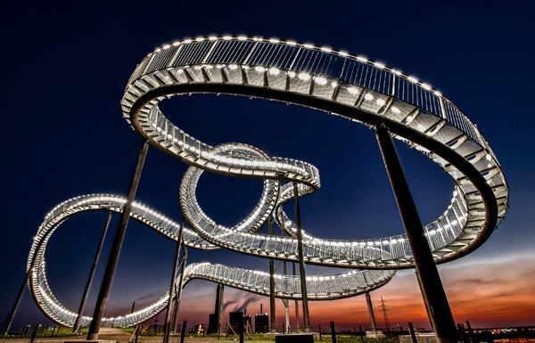 """Lightsnake."" Artwork in Duisburg, Germany. 2014 Sony World Photography Awards 1st place in Germany National Award."