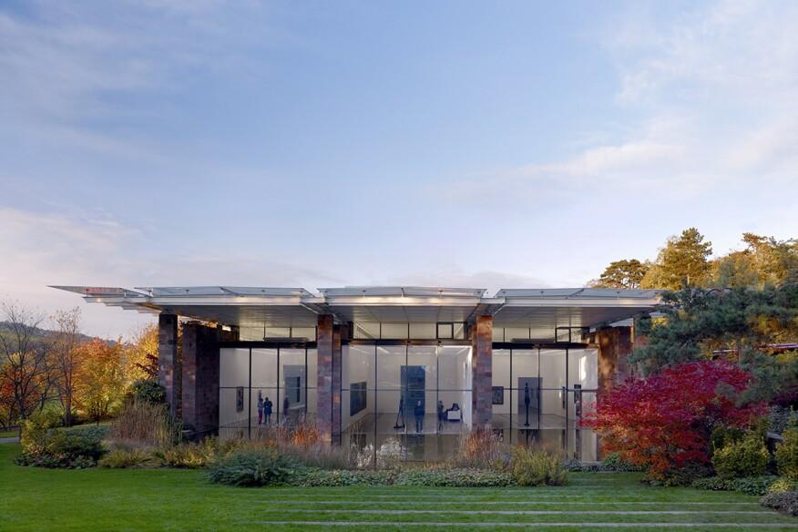 Fondation Beyeler building designed by Renzo Piano