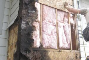 When we dug a little deeper, we discovered deteriorated sheathing and rotted framing, too.