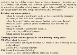 How Polished Concrete Earns LEED Points