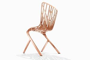 The Skeleton chair is among the first pieces in British architect David Adjaye's inaugural furniture collection for Knoll.