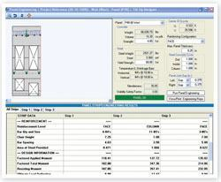 With the software, panels are designed after entering wall geometry and design requirements, and the program automatically generates detailed drawings including a wide variety of panel features.