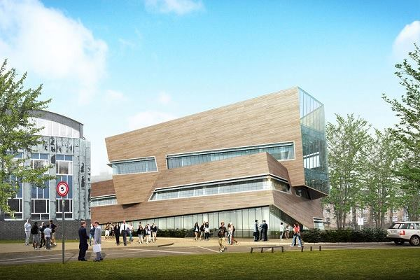 A rendering of Durham University's new physics center