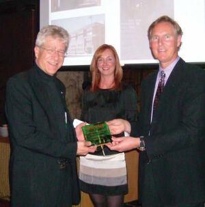 John Reister, Christina Koch, and Award Winner, Joe Herzog