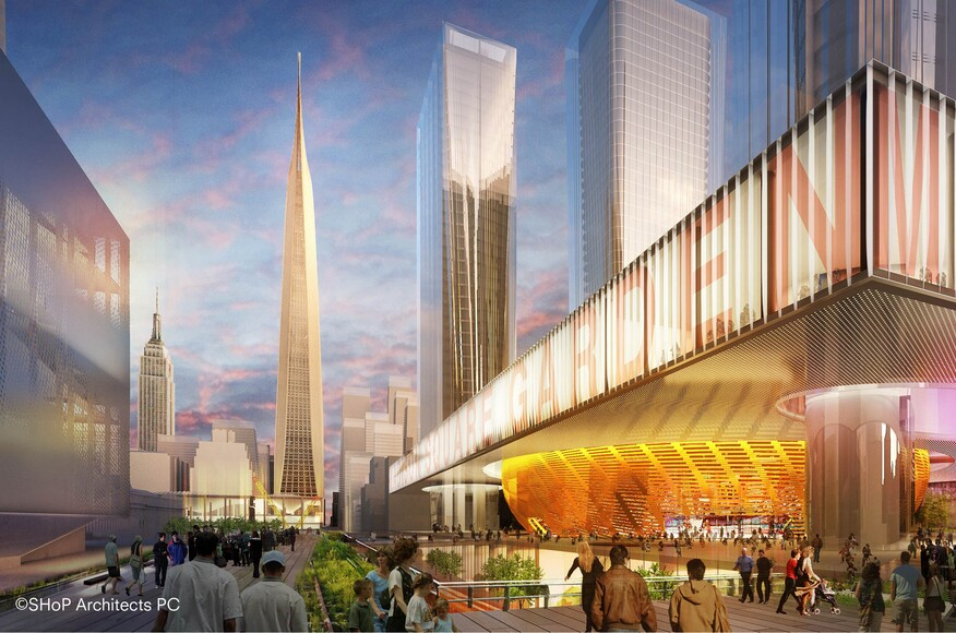 Shop proposal for penn station and madison square garden - Madison square garden penn station ...