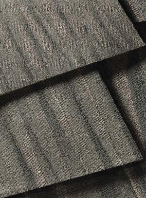 En Vogue modular carpeting  Lees Carpets  leescarpets.com  Inspired by the slinky fabrics and elegant drapes of designer clothing    Available in 10 colors and two styles, Glamorous Life and Silhouette    Features Duracolor dye technology and Encycle backing, which can be completely recycled into new Encycle backing without separating the face fibers from the backing layers