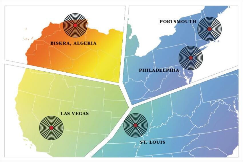 Across the Institute: In Las Vegas, Biskra, Algeria, St. Louis, Philadelphia, Portsmouth, N.H.