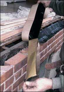 Perfect storm flashing jlc online exteriors flashing for Glue on brick veneer