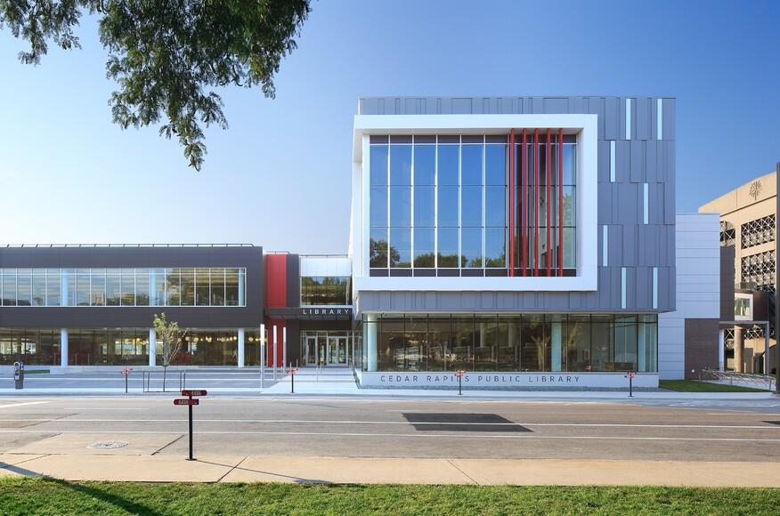 Cedar Rapids Public Library Architect Magazine Opn Architects Cedar Rapids Ia Usa