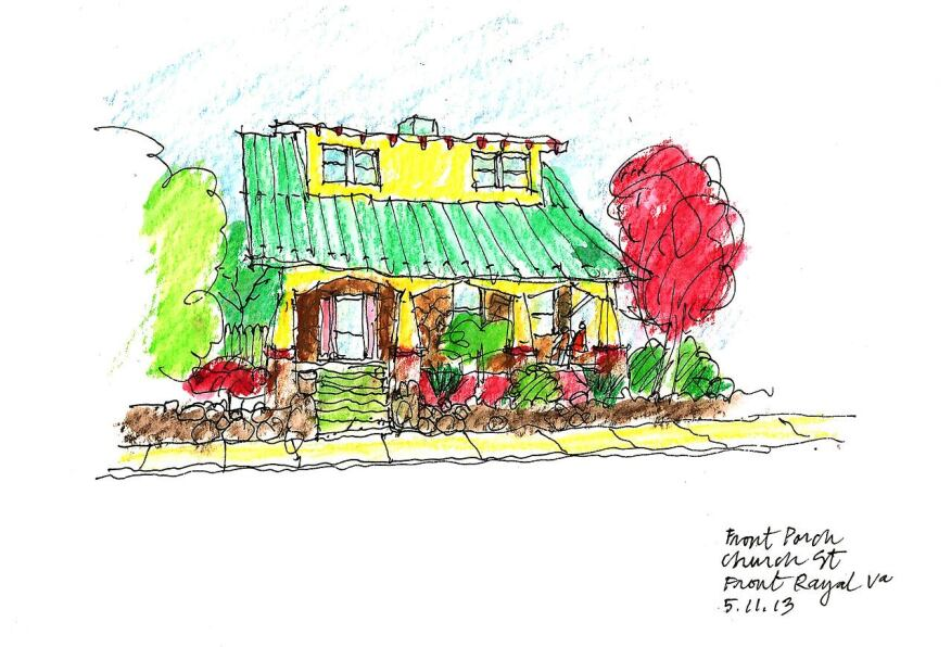 A cottage in Front Royal, Va., with 100-year-old curb appeal in the form of a shallow front yard and neighborly stoop.