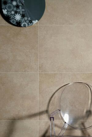 """Elianes Ecocement collection is constructed with 20% pre-consumer recycled content. The tile line, designed for commercial or residential building walls and floors, is made with a silk-screen production process, resulting in a satiny, natural, and lifelike finish. Ecocement is available in two sizes (18"""" by 36"""" and 18"""" square) and three colors. Ecocement can contribute to LEED points. www.elianeusa.com"""