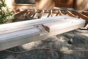 Grooved Deck Boards Facilitate Drainage