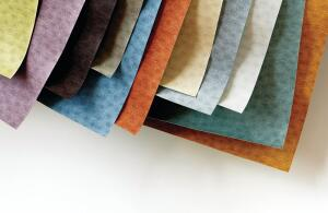 The Campione Collection from Designtex has three new multiscaled patterns: Corda features a slightly irregular stripe, Ondina (shown) is inspired by the ripple effect created by water droplets, and Stampato plays on positive and negative space on variegated ground. Corda is available in 18 colorways, Ondina in 16, and Stampato in 13. The wallcovering contains 30% recycled content-20% post-consumer recycled polyester and 10% pre-consumer recycled vinyl-and is applied with the company's Recore Recycled Wall Technology backing.  designtex.com