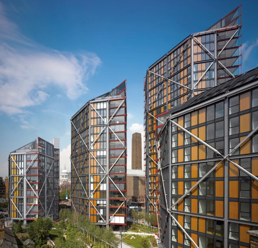 NEO Bankside, London, by Rogers Stirk Harbour + Partners.