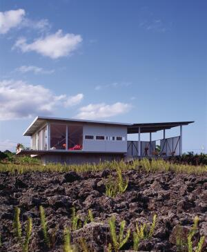 Steely designed the 1,400-square-foot Lavaflow 2 house on the Big Island.