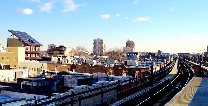 Bright'n Green rises above the Brighton Beach neighborhood in Brooklyn, N.Y.