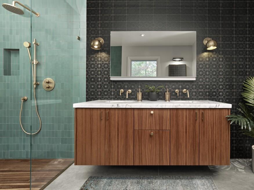 This Los Altos Hills bathroom design won the 2017 California Home+Design Award.