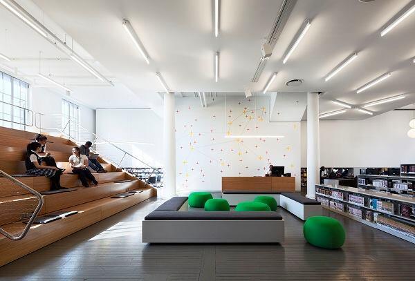 New York Public Library, Hamilton Grange Teen Center; Rice+Lipka Architects; New York City