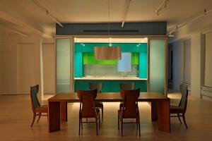 Marina Abramovic's loft in New York, designed by Dennis Wedlick Architect. Photo courtesy ofDennis Wedlick Architect.
