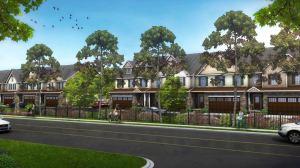 A rendering of the proposed NVR Homes townhome development in South Charlotte.