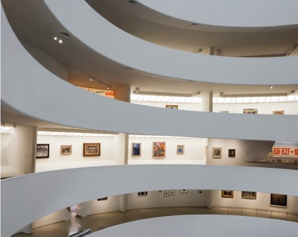 Installation view: Italian Futurism, 1909–1944: Reconstructing the Universe, Solomon R. Guggenheim Museum, New York, February 21–September 1, 2014.
