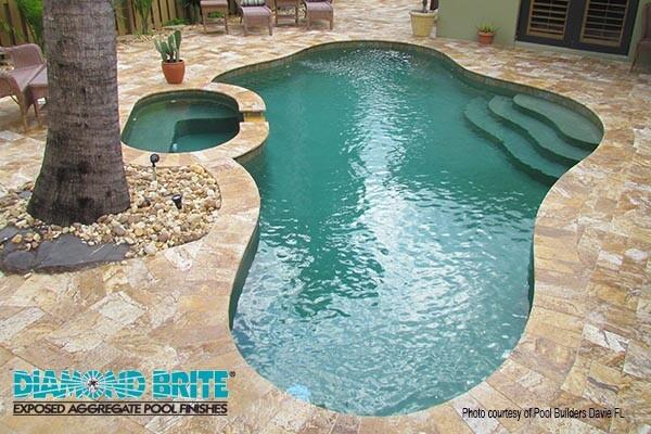 Diamond Brite Exposed Aggregate Pool Finishes Pool