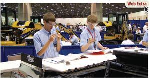 Getting involved with SkillsUSA is a great way to attract some of the best future mechanics. The organization hosts competitions (like the one shown above) where contestants show off their knowledge and skills. Photo: SkillsUSA