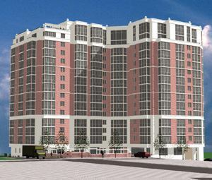 The Rosslyn Ridge apartment building will have a number of money-saving green features.