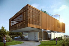 Wooden Box House