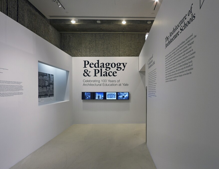The title wall of the exhibition