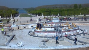 Built by Louis XIV, the Latona Fountain's being restored using three-century-old techniques. Photo: Stephanie Johnston