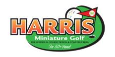 Harris Miniature Golf Courses, Inc. Logo