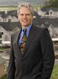 David Kunhardt, senior vice president of Aegon USA Realty Advisors, stands by Bay Vista, a 220-unit garden-style apartment property in Novato, Calif. Aegon acted as a limited investment partner on the project, which is among the latest affordable housing partnerships between the tax credit firm, Shea Properties, and Centex Homes.