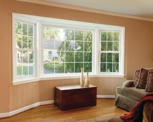 SIMONTON. Asure replacement vinyl windows feature a two-stepped sill design for water and air resistance, the company's Lap-Lok meeting rail and thick fin seal weatherstripping to ensure a tight seal against wind and rain, and unique sill chambers for added strength and durability. The windows can be specified to meet Energy Star qualifications. Double-hung, slider, picture, and geometric styles are available. 800.746.6686. www.simonton.com.