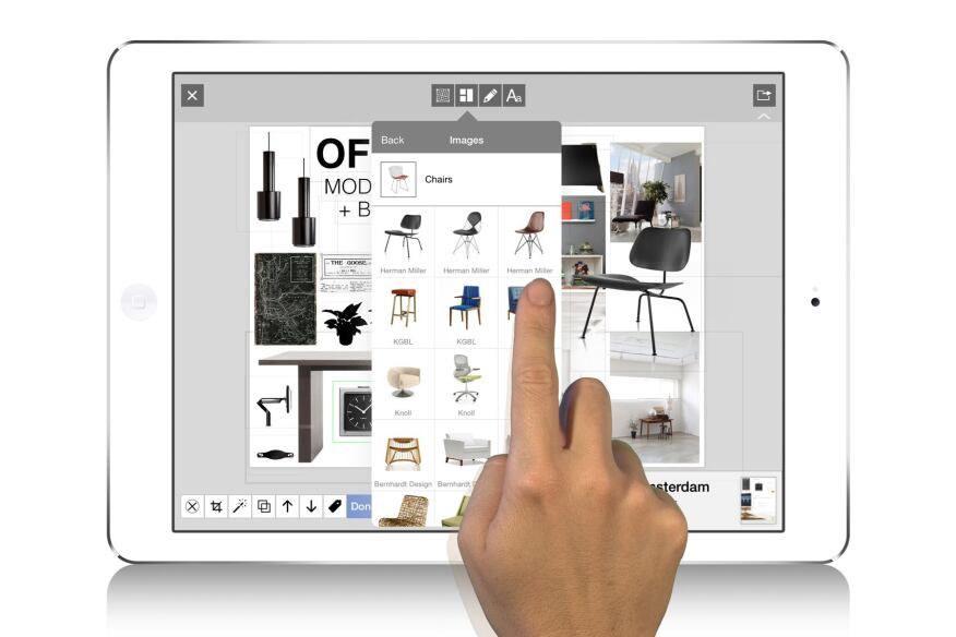 Users have more than 1,000 objects for their use in the app's gallery.