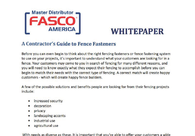 A Contractor's Guide to Fence Fasteners