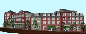 Landing 53, a 172-unit workforce housing community in Braintree, Mass., is one of the first projects receiving financing from the Healthy Neighborhoods Equity Fund created by the Massachusetts Housing Investment Corp. and the Conservation Law Foundation (CLF).
