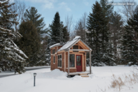 A Tiny House in the Vermont Mountains