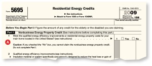 Part I of Claim FormThe first section addresses insulation, windows, doors, roofs, HVAC, biomass stoves, and non-solar water heaters. The tax credit for these products is 30%, up to a total of $1,500. Homeowners can take part of the $1,500 in 2009 and the rest in 2010 if they are for separate purchases. The instructions for lines 2a to 2d and 3a to 3c list the specific requirements for each type of credit a homeowner can claim, as does the Energy Star website (www.energystar.gov). For example, an electric heat pump that has an HSPF of at least 9, a SEER of at least 15, and an EER of at least 13. Or windows with a U-factor of 0.30 or less and an SHGC of 0.30 or less.