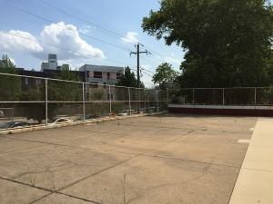 The Francisville pool deck before the Pop-Up Pool Project.