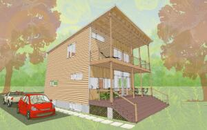 (rear elevation) The partnership with La Vardera is augmentingBensonwood's more traditional offerings with modern designs.