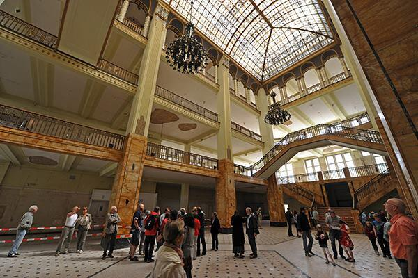 """The 1913 Art Nouveau department store in Goerlitz, Germany, where """"The Grand Budapest Hotel"""" was filmed."""