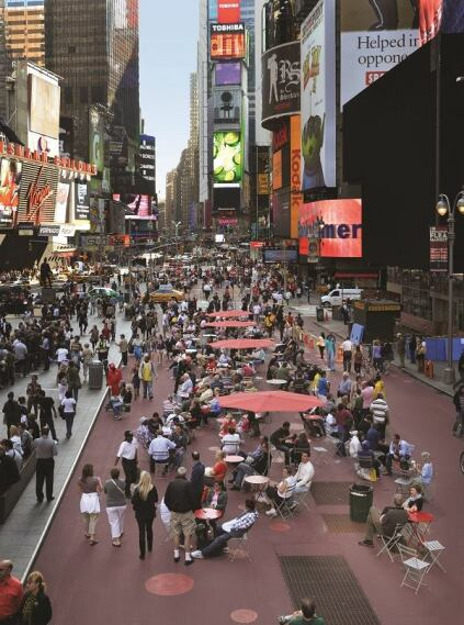 Times Square, after.