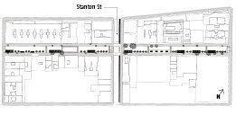 Renderings for the modular street market Dub Studios designed for Orchard Street on New York's Lower East Side.