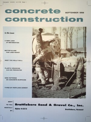 The first issue of Concrete Construction, September 1956.
