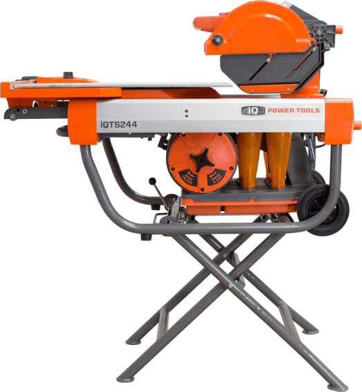 A Dustless Dry-Cutting Tile Saw