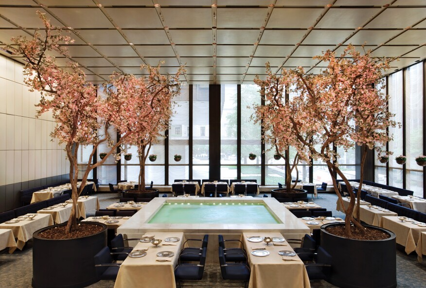 The Pool Room at the Four Seasons Restaurant in New York City.